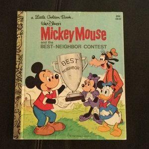 Little Golden Book Mickey Mouse best-neighbor vtg
